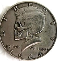 New Hobo Nickel 1964 Skull President Kennedy Half Dollar Casted Coin - $11.39