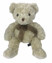 "Unipak Cream Ivory Bear 17"" Plush Brown Ribbon - $33.26"