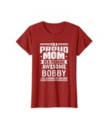 Dog Fashion - Proud Mom of a Awesome Bobby Mother Son Name T-Shirt Wowen - $19.95+