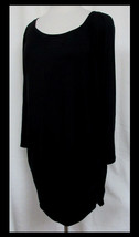 PIP & VINE Maternity Ultra Soft Rayon Stretch Black Pullover Ruched Side... - $19.59