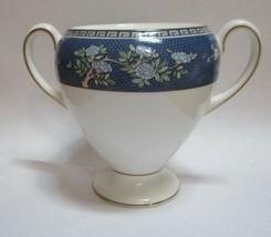 Wedgwood Blue Siam Sugar Bowl No Lid Globe Shape - $14.84