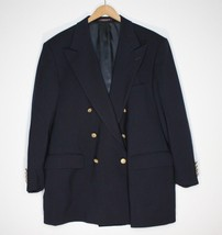 Evan-Picone Tailored For FOLEY'S Navy Blue Blazer with Gold Buttons 100%... - $29.34