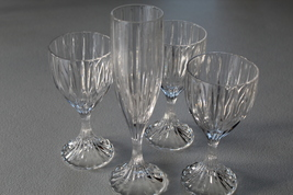 Mikasa Park Lane Set Of Three Wine Glasses & One Champagne Glass - $49.99