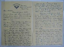 WW2 letter B-17 Engineer Haynes 303rd BG Shot down over Dresden POW  - $70.13