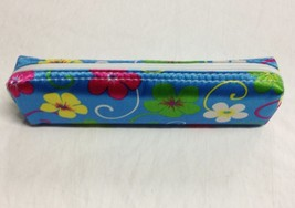 Blue Floral Print Pencil Pouch - $3.99