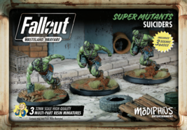 Fallout Wasteland Warfare Super Mutants Suiciders Miniatures Modiphius - $27.99