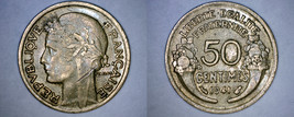 1941 French 50 Centimes World Coin - France - $4.49