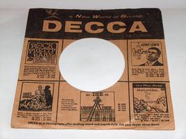 VTG (1) 1950's DECCA Rock Pretty Baby Vinyl Wax Record Protector Sleeve VG+ - $8.32