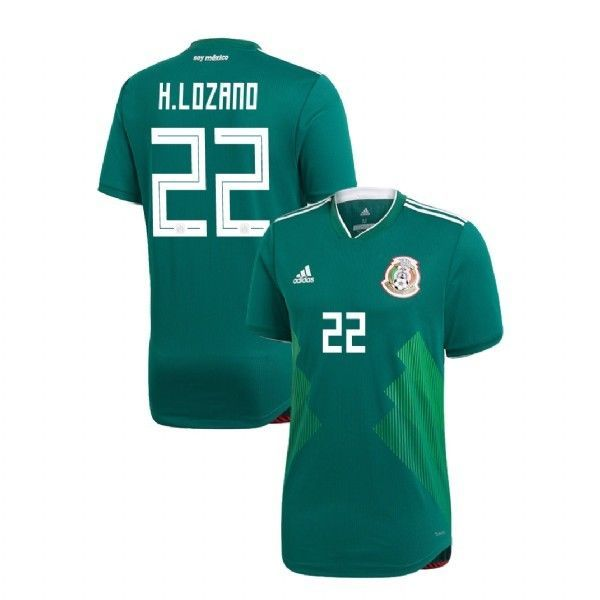 4ac38f71c 57. 57. Previous. ADIDAS HIRVING LOZANO MEXICO 2018 WORLD CUP AUTHENTIC HOME  PLAYER JERSEY PATCHES
