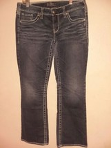 Silver Jeans Womens Aiko Bootcut Sz 32 31 Thick Stitched Dark Wash - $20.57