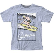 T-Shirts Size S-2XL New Mens California Surfs Up Retro T-Shirt - $21.85+