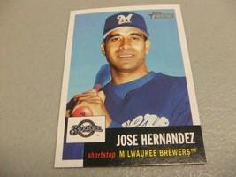 2002 Topps Heritage #438 Jose Hernandez SP Short Print Milwaukee Brewers - $3.12