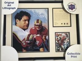 NIB 1996 Steve Young Framed San Francisco 49ers Lithograph Art Print Photo #532 - $25.00