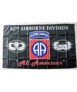 UNITED STATES 82ND ARMY AIRBORNE 3 X 5 POLYESTER MILITARY FLAG - $7.51