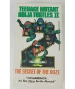 Teenage Mutant Ninja Turtles 2 VHS The Secret of the Ooze (1991 New Line) - $6.79