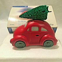 Auto With Tree Department 56 The Original Snow Village Taiwan # 50555 Red - $12.60