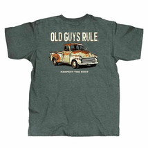 New OLD GUYS RULE T SHIRT  RESPECT THE RUST TRUCK SHIRT - $23.99