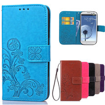 Luxury Case for Samsung Galaxy S3 Flip Wallet Leather Cover For Samsung S3 Case