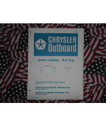1968 Chrysler Outboard 9.9 HP Parts Catalog - $19.79