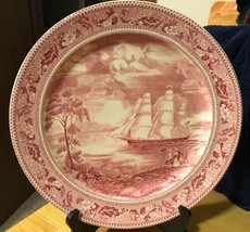 Vtg Johnson Brothers Flying Cloud Clipper Ship Plate Red - $46.74
