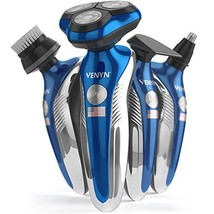 Venyn 4 In 1 Richor Rotatory Electric Shaver - Works for Wet, Dry Beard - Body H