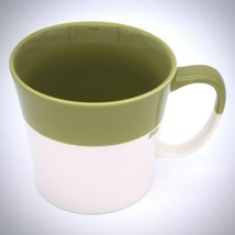 Starbucks Tazo Zen Mug 2010 Bone China Tea Cup Green Beige Coffee 12 Oz - $24.74