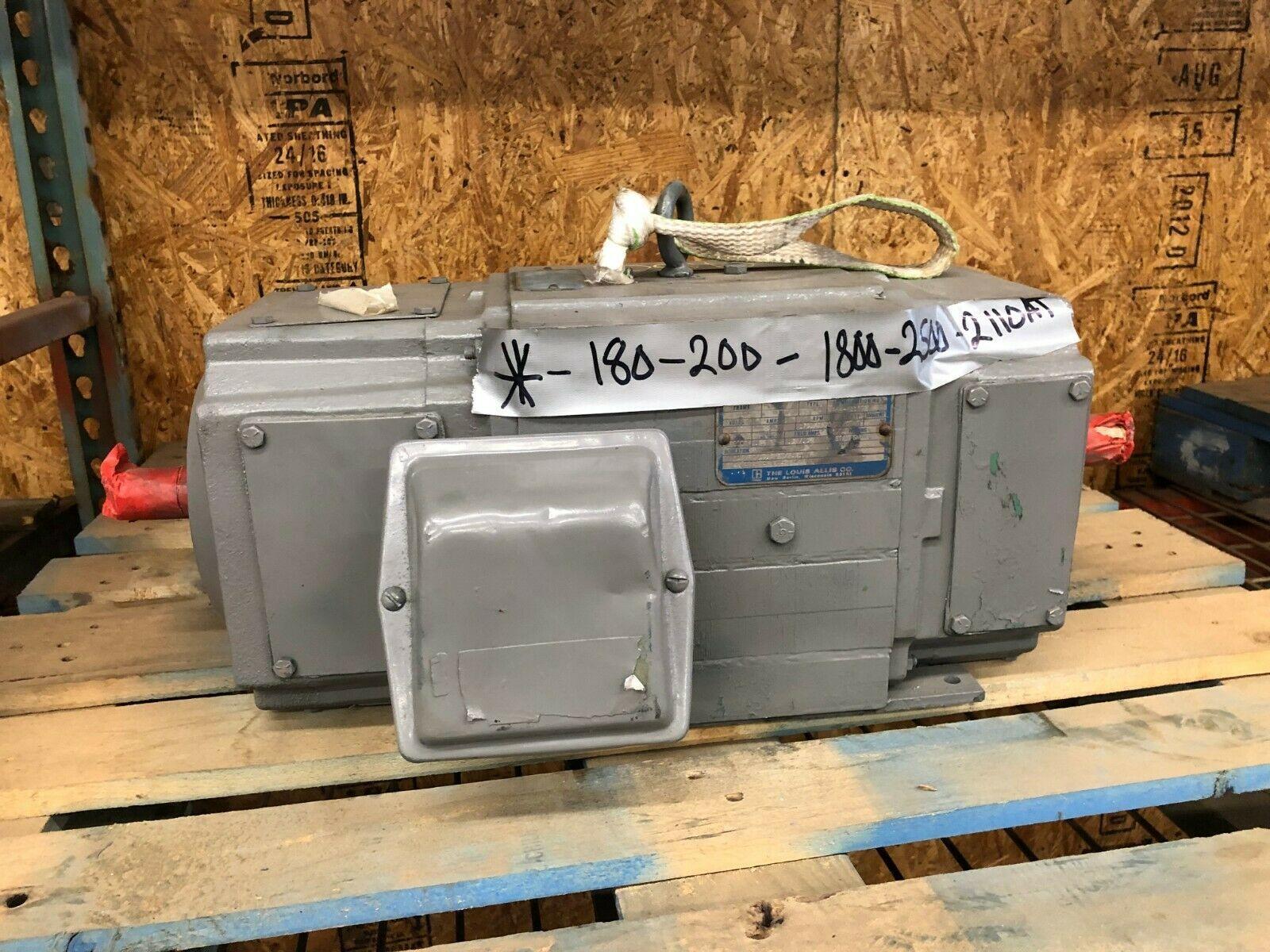 Louis Allis TR Motor 1750/2500 RPM 180V 25 Amps Remanufactured