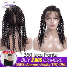 Peruvian  Kinky Curly Pre Plucked 360 Lace Frontal Closure WIth Baby hair Adjust - $86.60