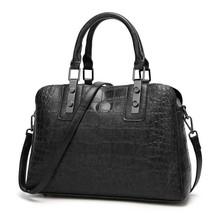 JOOZ New 2019 Alligator pattern women bag for big Shell Leather Bags Hig... - $36.90