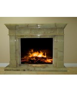 Yellow Green Onyx Stone Fireplace Surround Mantel Living Great Room FPS-13 - $6,798.00