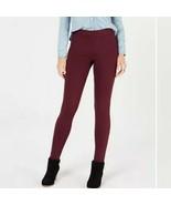 Style & Co Women's Pull-On Skinny Elastic Bands Berry Jam Stirrup Leggin... - $28.04