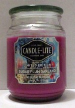 NEW CANDLE LITE SUGAR PLUM GARLAND LIMITED EDITION SCENT LARGE 18 OZ GLA... - $14.99