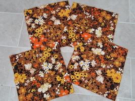 """Set of 4 vintage Napkins 16"""" square Autumn colors - $15.00"""