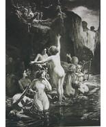 NUDE Siren's Nest Cliffs Men Offer Jewelry Trinkets - Photogravure Antiq... - $16.20