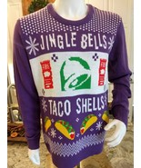 Mens Taco Bell Jingle Bells Taco Shells Ugly Christmas Sweater Size XL  - $59.77