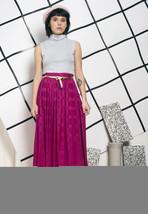80s vintage magenta midi skirt - $34.34