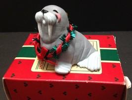 Christmas Hallmark Keepsake 1988 Jolly Walrus Ornament  Original Box EXC  - $11.87
