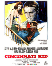 Steve McQueen and Ann-Margret in The Cincinnati Kid Cool Artwork 16x20 Canvas - $69.99