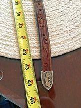 BOHLIN MADE BELT RANGER PLATA DE JALISCO STERLING SILVER BUCKLE Leather Western image 7