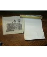 Jack Daniels Dan Quest Signed Woodcut Rice Paper Art-Courthouse Lynchbur... - $31.95