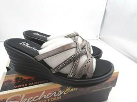 Skechers Cali Women's Rumbler Wave-New Lassie Slide Sandal,pewter 7.5 M - $22.23