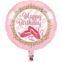 """Twinkle Toes """"Happy Birthday"""" Metallic Balloon Ballerina Ballet - $3.95"""