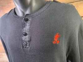 Mickey Maus Disney Schwarz Rot Thermo Herren Hemd Größe XL - $20.84