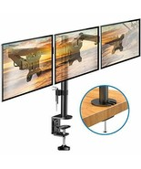 HUANUO Triple Monitor Stand | Adjustable 3 Arm Desk Mount Fits 19 20... - $72.88