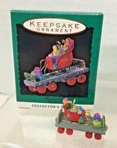 1993 Noel RR #5 Flatbed Miniature Hallmark Christmas Tree Ornament MIB P... - $9.41