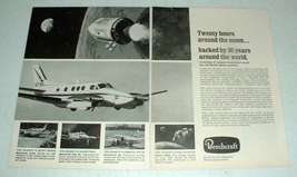 1969 Beechcraft Apollo Spacecraft Ad, King Air Plane - $14.99