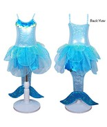 Pink Poppy Girl's Costume Mermaid Dress (Blue Fluff, 3/4) - $68.00