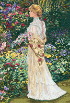 """Dimensions/Gold Collection Counted Cross Stitch Kit 11""""X16""""-In Her Garden (18 Co - $35.17"""