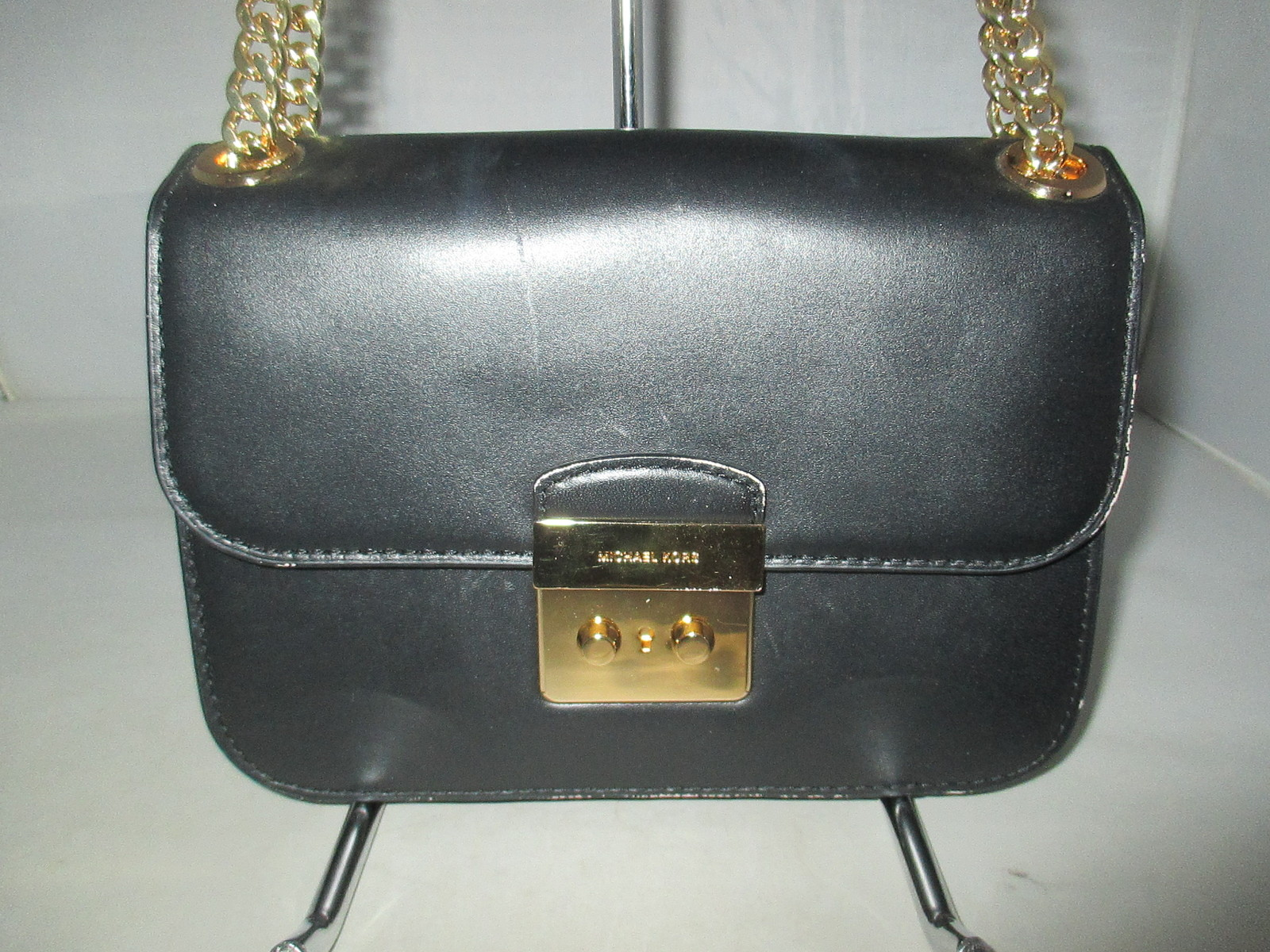 3baf5626b6a6ff Michael Kors Sloan Editor Medium Chain Shoulder Bag, Cross-Body, Messenger  $278