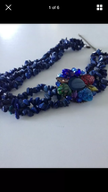 embrace your island beach girl triple strand floral beaded necklace - $24.99